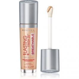 Rimmel Lasting Finish 25H Breathable tekutý make-up SPF 20 odtieň 103 True Ivory 30 ml