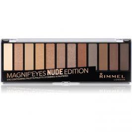 Rimmel Magnif´ Eyes paleta očných tieňov odtieň 001 Nude Edition 14,16 g