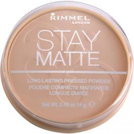 Rimmel Stay Matte púder odtieň 005 Silky Beige  14 g