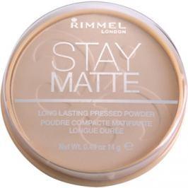 Rimmel Stay Matte púder odtieň 001 Transparent  14 g