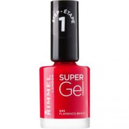 Rimmel Super Gel Step 1 gélový lak na nechty bez použitia UV/LED lampy odtieň 045 Flamenco Beach 12 ml