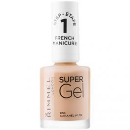 Rimmel Super Gel Step 1 gélový lak na francúzsku manikúru odtieň 093 Caramel Nude 12 ml