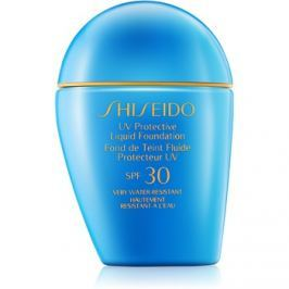 Shiseido Sun Foundation vodeodolný tekutý make-up SPF 30 odtieň Dark Beige  30 ml