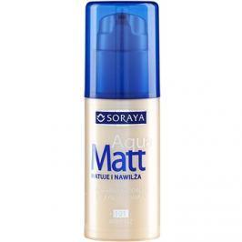 Soraya Aqua Matt zmatňujúci make-up s hydratačným účinkom odtieň 101 Light Beige 30 ml