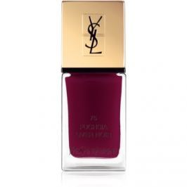 Yves Saint Laurent La Laque Couture lak na nechty odtieň 75 Fuchsia Over Noir 10 ml