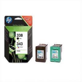 HP SD449EE č. 338 a č. 343 černá, barevná