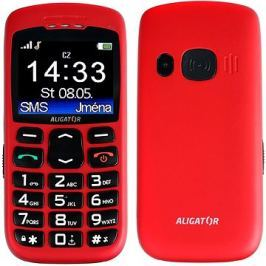 Aligator A670 Senior Red + Stolní nabíječka