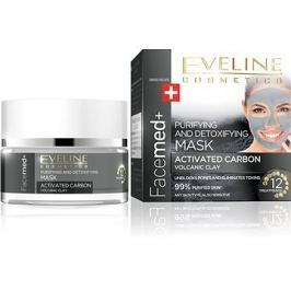 EVELINE COSMETICS FACEMED+ CLEANSING MASK WITH ACTIVE COAL 50 ml
