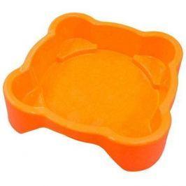 Pískoviště - bazének Čtverec bez krytu oranžové