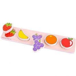 Dřevěné široké vkládací puzzle - Ovoce