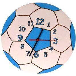 Dětské dřevěné hodiny - Modrý míč
