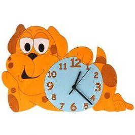Dětské dřevěné hodiny - Pejsek