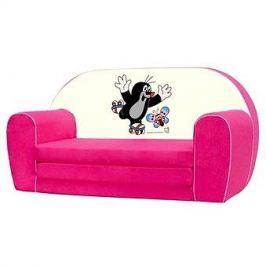 Bino Mini-pohovka růžová - Krteček
