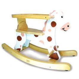 Dřevěný houpací kůň bílý