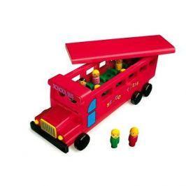 Dřevěný školní autobus