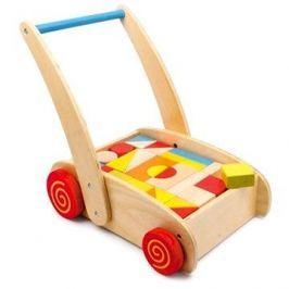 Chodítko - Dřevěné kostky ve vozíku