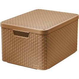 CURVER STYLE BOX s víkem L, 03619-213 –sv. hnědá