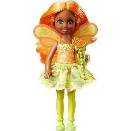 Barbie víla Chelsea tmavě oranžová