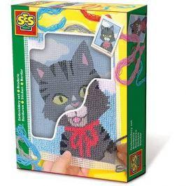 SES Vyšívaní dečky – kočička