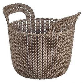 Curver Knit košík kulatý 3L hnědý