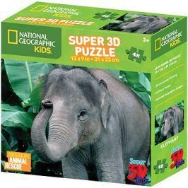 National Geographic Puzzle Slon 48 dílků 3D