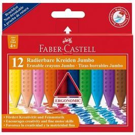 Faber-Castell Pastelky Plastic Colour Grip Jumbo, 12 Barev
