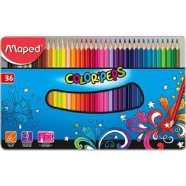 Maped Color Peps Metal Box, 36 barev