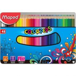 Maped Color Peps Metal Box, 48 barev