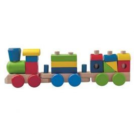 Woody Dřevěný skládací nákladní vlak - dva vagony