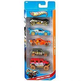 Hot Wheels Angličáky 5 ks - Jungle Rally