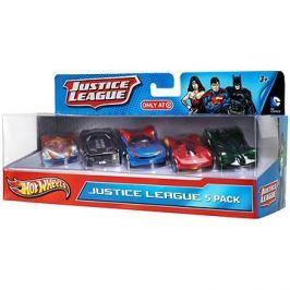 Hot Wheels Angličáky 5 ks - Justice League
