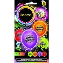 LED balónky - narozenínové 4 ks