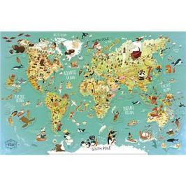 Vilac Nástěnná magnetická mapa světa 78 dílků