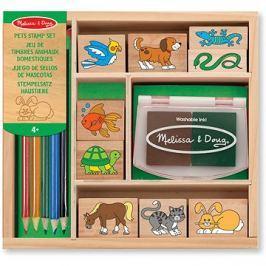 Dřevěná razítka v krabičce Zvířátka
