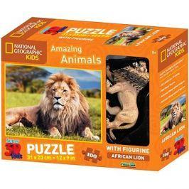 National Geographic 3D Puzzle s figurkou Lev