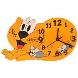 Dětské dřevěné hodiny - Kočka