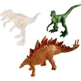 Jurský svět 3ks Mini Dino - zelený+ hnědý+ průhledný