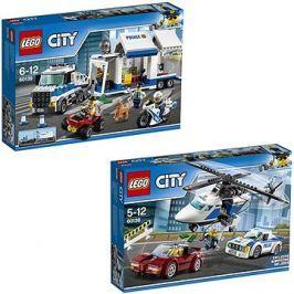 LEGO City 60138 Honička ve vysoké rychlosti + LEGO City 60139 Mobilní velitelské centrum