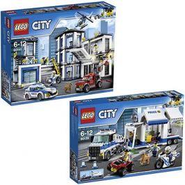 LEGO City 60141 Policejní stanice + LEGO City 60139 Mobilní velitelské centrum