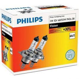 PHILIPS  H4 Vision, 60/55W, patice P43t-38, sada 2 ks