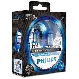 PHILIPS  H4 ColorVision Blue, patice P43t-38, 2 ks