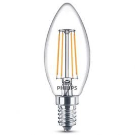 Philips LED Classic Filament Retro svíčka 4-40W, E14, 2700K, čirá