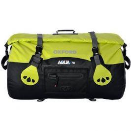 OXFORD vodotěsný vak Aqua70 Roll Bag, (černý/fluo, objem 70l)