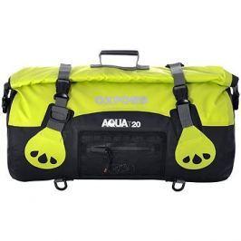OXFORD vodotěsný vak Aqua20 Roll Bag, (černý/fluo, objem 20l)