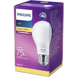 Philips LED Classic 8.5-75W, E27, Matná, 2700K