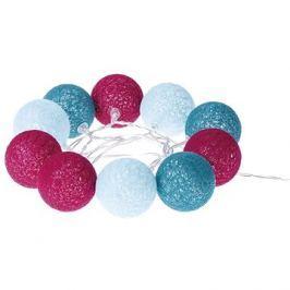 EMOS LED girlanda - koule bavlněné, jaro, 2xAA, teplá bílá, čas.