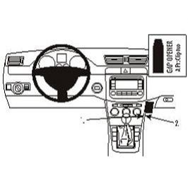 Brodit  ProClip montážní konzole pro Volkswagen Passat 05-14/CC 09-17/Alltrack 12-15