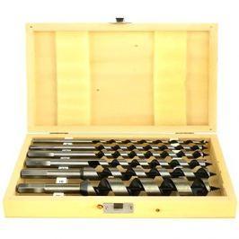 GEKO Vrtáky hadovité do dřeva, sada 6ks, 6-25mm, délka 230mm, v dřevěné kazetě