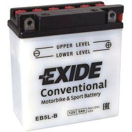 Motobaterie EXIDE BIKE Conventional 5Ah, 12V, YB5L-B / 12N5-3B