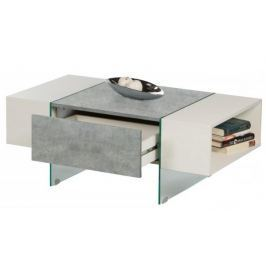 Ferrara, šedý beton/biely lesk